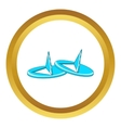 Retro pushpins icon vector image vector image