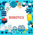 robotics paper template vector image vector image