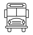 school bus thin line icon vehicle vector image