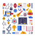 school supplies collection education and learning vector image vector image