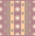 seamless pattern elements of flowers and hearts vector image