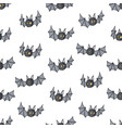 seamless pattern with cartoon bats cute vampire vector image vector image