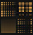 set of abstract halftone backgrounds brown color vector image