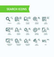 set of fine line icons of vector image vector image