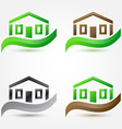 simple house buildings icons - abstract real vector image