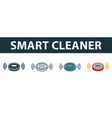 smart cleaner icon set premium symbol in vector image vector image
