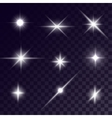 star lighting effects vector image vector image