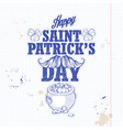 sticker for saint patricks day vector image vector image