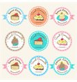 Sweet bakery badge label and logo vector image vector image