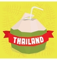 Thailand coconut cocktail postcard vector image