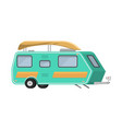 trailers or family rv camping caravan tourist bus vector image vector image