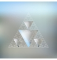 Triangular pattern with the reflection of vector image