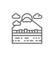 urban japanese landscape mount fuji line icon vector image