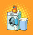 washing machine and washing powder vector image