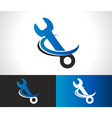 Wrench Repair Logo Icon vector image