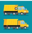 Yellow mining truck Construction transport vector image