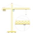 Simple flat crane vector image
