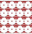 royal seamless pattern with red crowns vector image