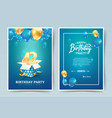 42th years birthday invitation double card vector image vector image