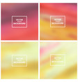 abstract blurred backgrounds vector image