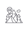 adventure line icon concept adventure vector image vector image
