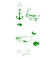 animal icons set outline set of 25 animal icons vector image vector image