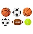 basketball ball soccer ball tennis ball vector image
