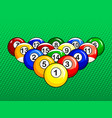 billiard balls pop art style vector image