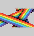 bright trendy colorful rainbow lines template vector image