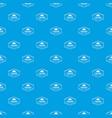 camping shield pattern seamless blue vector image vector image