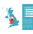 cardiff map infographic vector image