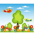 Cartoon landscape design vector image