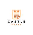 castle paper logo icon vector image