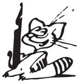 cat with fountain pen vector image