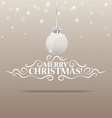 Christmas lettering greetings card and Christmas vector image vector image