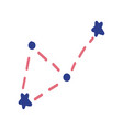 constellations made in a doodle style graphics vector image vector image