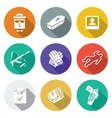 Contract killing profession Icons Set vector image vector image