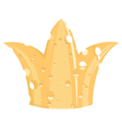 crown of cheese vector image vector image