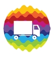 Delivery Rainbow Color Icon for Mobile vector image