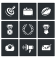 Fame and glory icons set vector image vector image