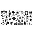 flat christmas icons element for patterns cards vector image vector image