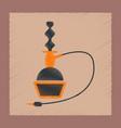 flat shading style icon eastern hookah smoke vector image vector image
