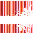 floral abstract banner vector image vector image