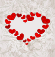 Floral background with crumpled paper hearts for vector image vector image