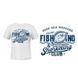 flounder or flatfish t-shirt print mockup vector image vector image