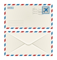 front and back an airmail envelope vector image