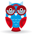 Funny owl on white background vector image vector image