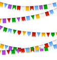 garlands holiday realistic decoration set of vector image