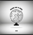globe on gray background and shadow vector image vector image