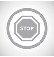 Grey STOP sign icon vector image
